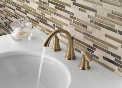 Delta Lahara Faucet Champagne Bronze Widespread Bathroom Faucet