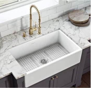 Ruvati RVL2300WH White Farmhouse Kitchen Sink